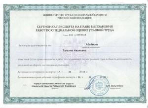 Сертификат Абоймова Т.И.