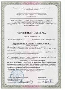 Сертификат Курганский