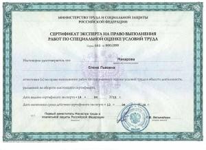 сертификат Макарова
